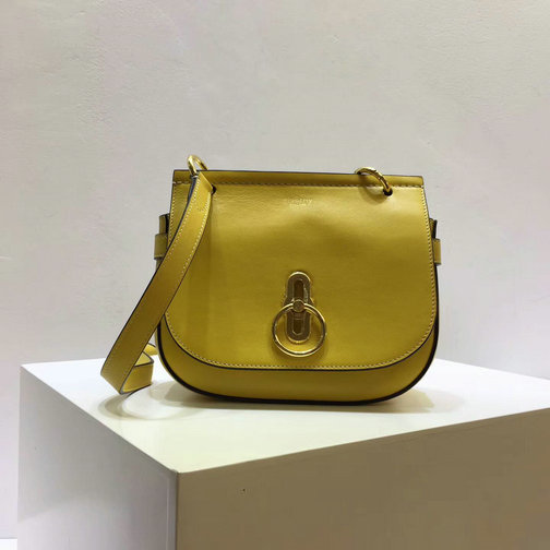 2017 Cheap Mulberry Small Amberley Satchel Gold Ochre Leather