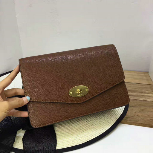 2017 Cheap Mulberry Small Darley Bag in Oak Grain Leather  SS201792 ... cd452f1744970