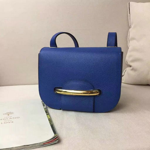 2017 S/S Mulberry Small Selwood Bag in Porcelain Blue Grain Leather