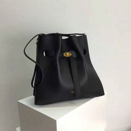 2017 Cheap Mulberry Small Tyndale Bucket Bag Black Small Classic Grain