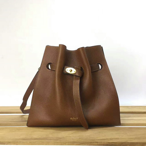 2017 Cheap Mulberry Small Tyndale Bucket Bag Oak Small Classic Grain