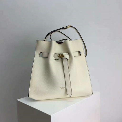 2017 Cheap Mulberry Small Tyndale Bucket Bag White Small Classic Grain