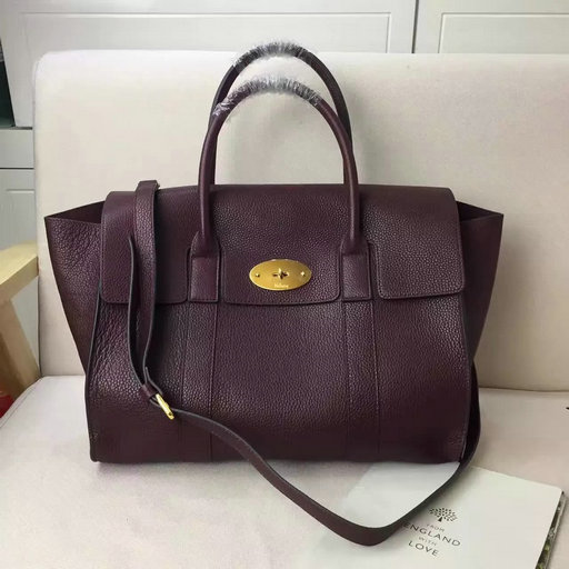2017 S/S Mulberry Bayswater with Strap Oxblood Grain Leather