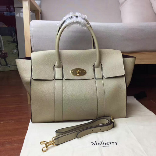 2017 Cheap Mulberry Bayswater with Strap Dune Small Classic Grain