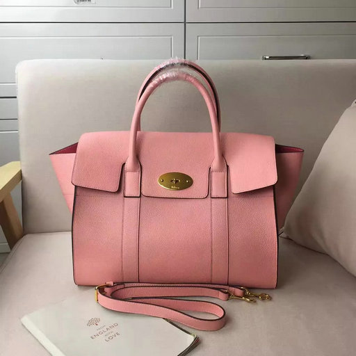 2017 S/S Mulberry Bayswater with Strap Macaroon Pink Grain Leather