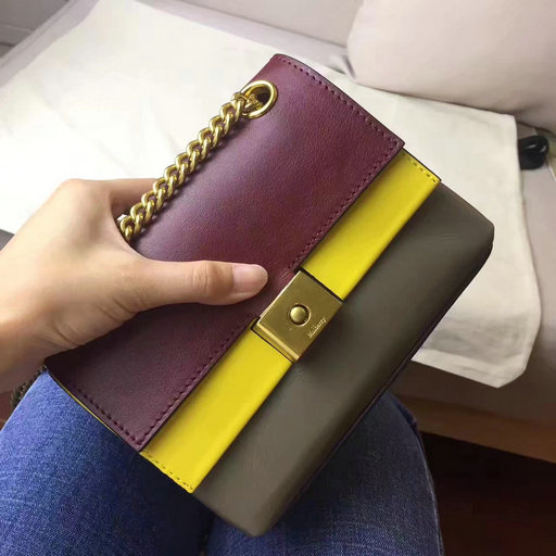 2017 Cheap Mulberry Mini Cheyne Oxblood,Sunflower & Clay Smooth Calf