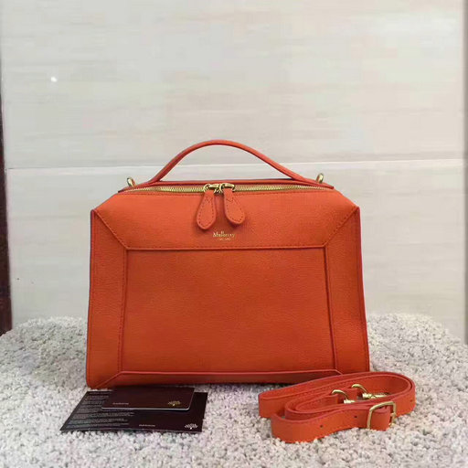 5ba38206dccf 2017 Cheap Mulberry Small Hopton Orange Classic Grain Leather ...