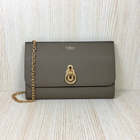 2018 Mulberry Amberley Long Clutch Clay Grain Leather