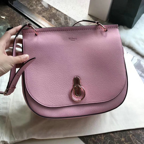 2018 Cheap Mulberry Amberley Satchel Pink Grain Leather
