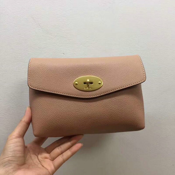 2018 Mulberry Darley Cosmetic Pouch in Dark Blush Small Classic Grain