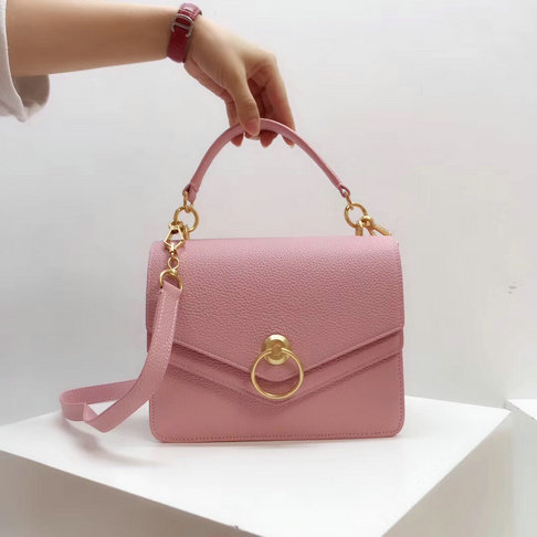 2018 Mulberry Harlow Satchel Pink Small Classic Grain