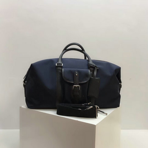 2018 Mulberry Heritage Weekender Midnight Nylon & Smooth Calf Leather