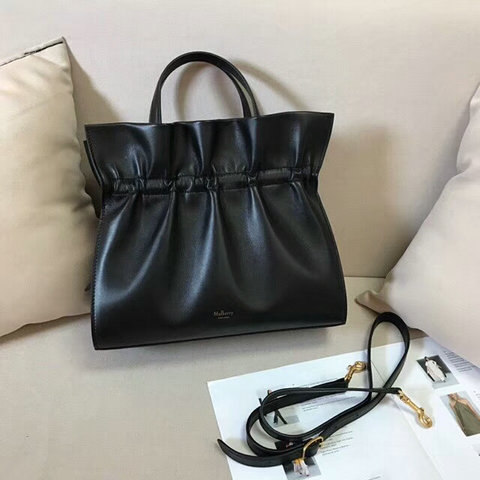 2018 Mulberry Lynton Bag in Black Leather