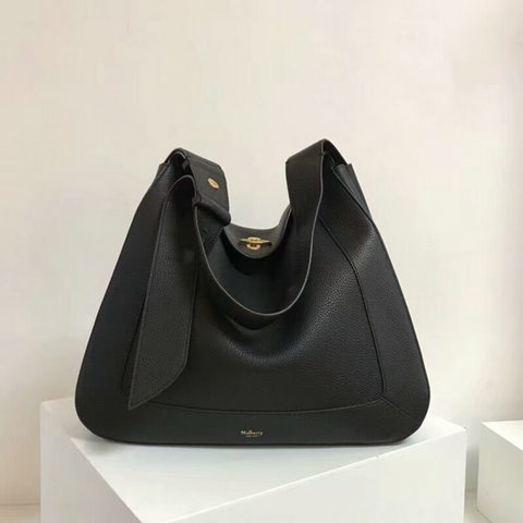 2018 Mulberry Marloes Hobo Black Grain Leather