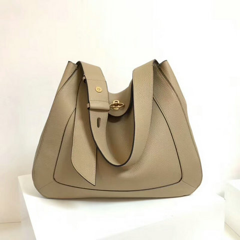 2018 Mulberry Marloes Hobo Light Dune Grain Leather