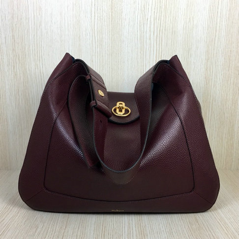 2018 Mulberry Marloes Hobo Oxblood Grain Leather