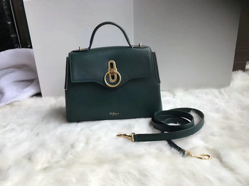 2018 S/S Mulberry Mini Seaton Bag in Green Silky Calf Leather