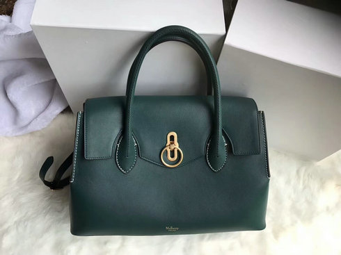 2018 S/S Mulberry Seaton Bag in Green Silky Calf Leather