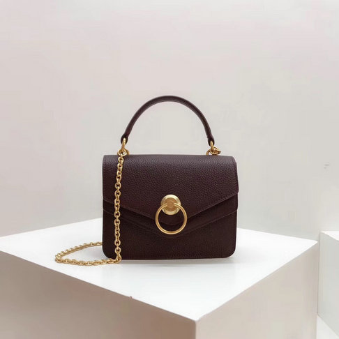 2018 Mulberry Small Harlow Bag Oxblood Classic Grain Leather