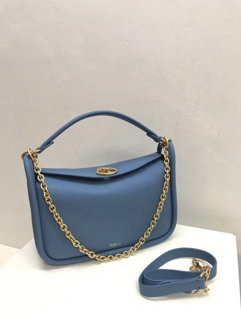 2018 Mulberry Small Leighton Bag in Lavender Blue Classic Grain Leather