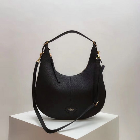 2018 Mulberry Small Selby Hobo Bag in Black Small Classic Grain Leather