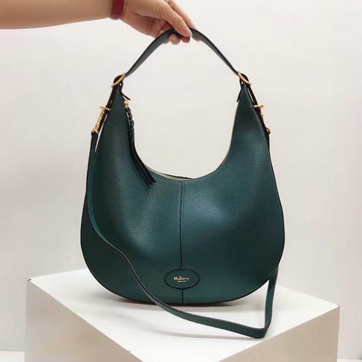 2018 Mulberry Small Selby Hobo Bag in Deep Sea Small Classic Grain Leather