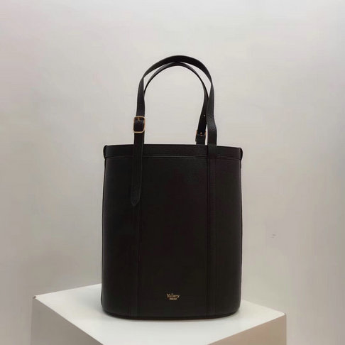 2018 Mulberry Small Wilton Tote Black Small Classic Grain