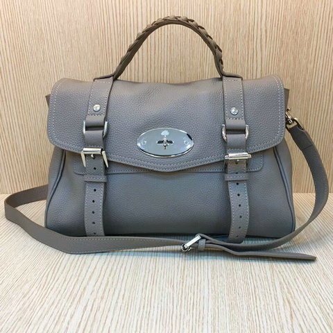 Mulberry Alexa Bag Bag in Grey Grain Leather