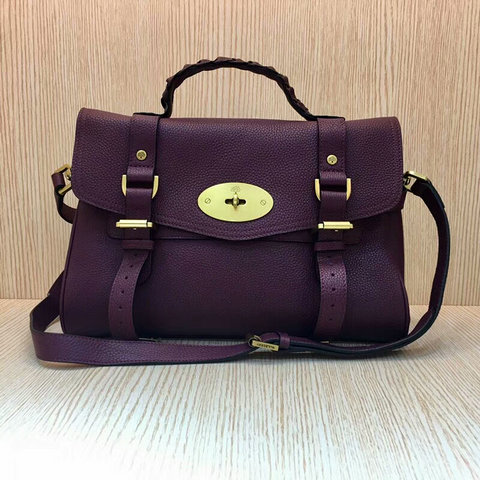Mulberry Alexa Bag Bag in Purple Grain Leather