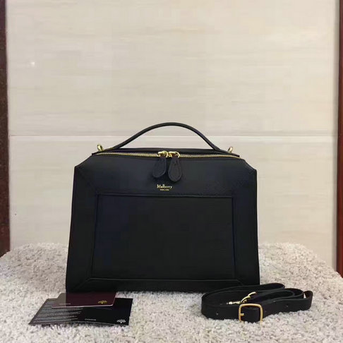 2017 Cheap Mulberry Small Hopton Black Classic Grain Leather