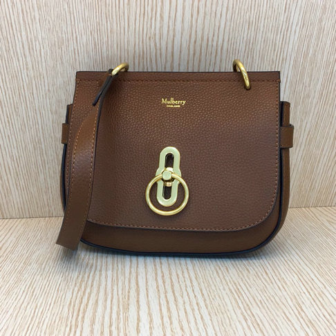 e5a7171416 2017 Cheap Mulberry Small Amberley Satchel Oak Grain Leather larger image