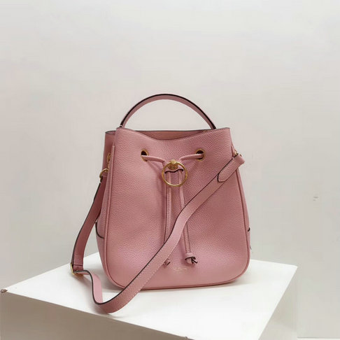 2019 Mulberry Hampstead Bucket Bag Pink Grain Leather