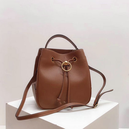 2019 Mulberry Hampstead Bucket Bag Tan Silky Calf Leather