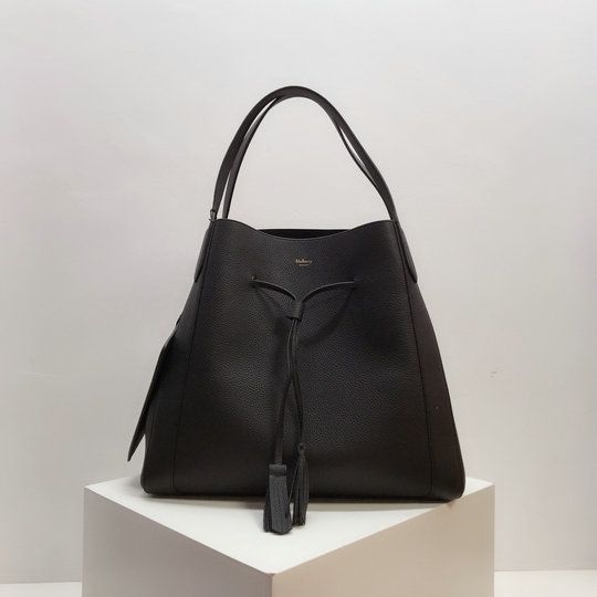 2019 Mulberry Millie Tote Black Heavy Grain Leather