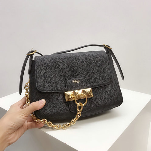 2019 Mulberry Mini Keeley Bag in Black Heavy Grain Leather