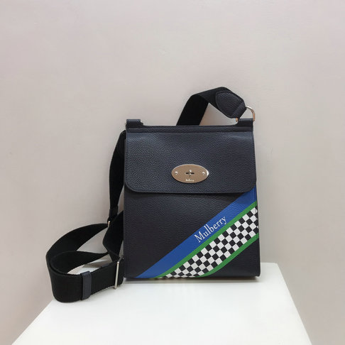 2019 Mulberry New Antony Midnight Racing Stripes