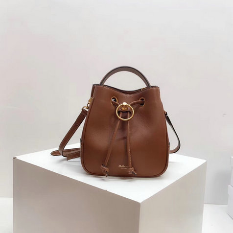 2019 Mulberry Small Hampstead Bucket Bag Tan Silky Calf Leather