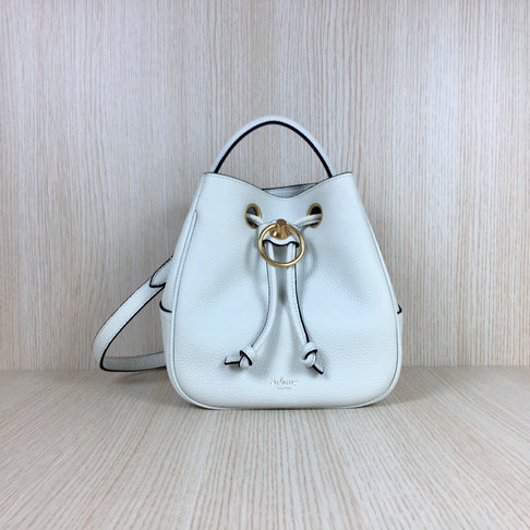 2019 Mulberry Small Hampstead Bag White Grain Leather