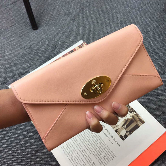 2015 Mulberry Envelope Leather Wallet 312259 in Pink