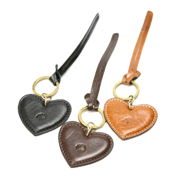 Cheap Mulberry Heart Fob Leather Keyring
