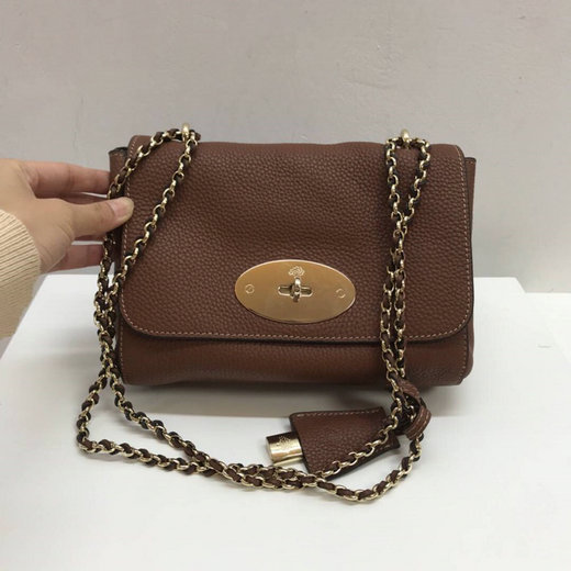 Classic Mulberry Lily Shoulder Bag in Oak Soft Grain Leather