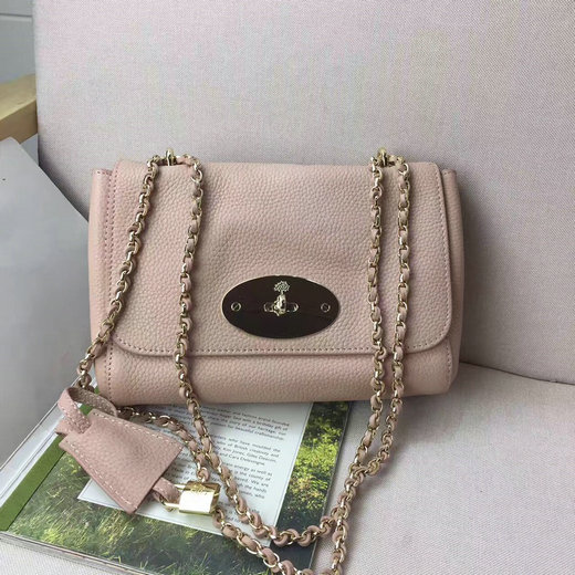 Classic Mulberry Lily Shoulder Bag in Ballet Pink Soft Grain Leather