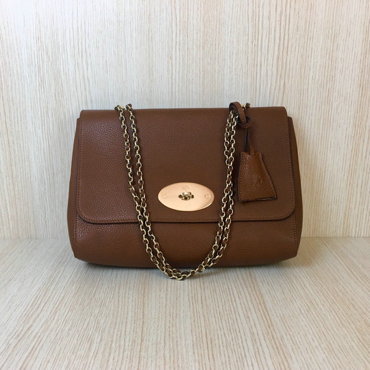 Classic Mulberry Medium Lily Bag in Oak Soft Grain Leather
