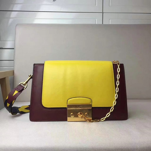 2017 Cheap Mulberry Pembroke Satchel in Sunflower,Oxblood & Midnight Blue Leather