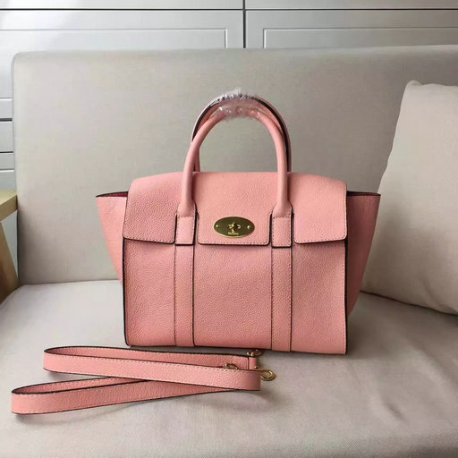 2017 Cheap Mulberry Small New Bayswater Macaroon Pink Small Classic ... 6a5f5bf191f36