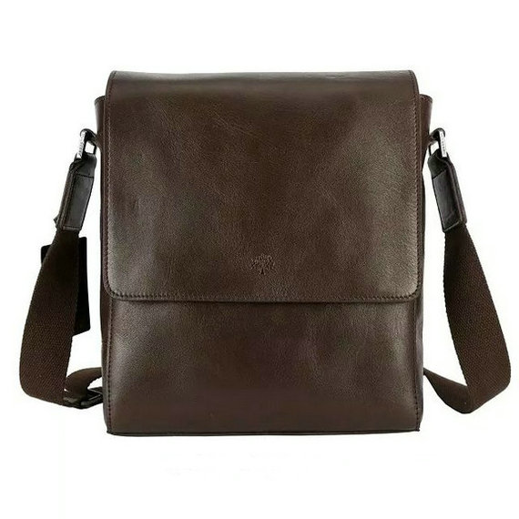 2015 Mulberry Maxwell Small Messenger Bag Chocolate for Men