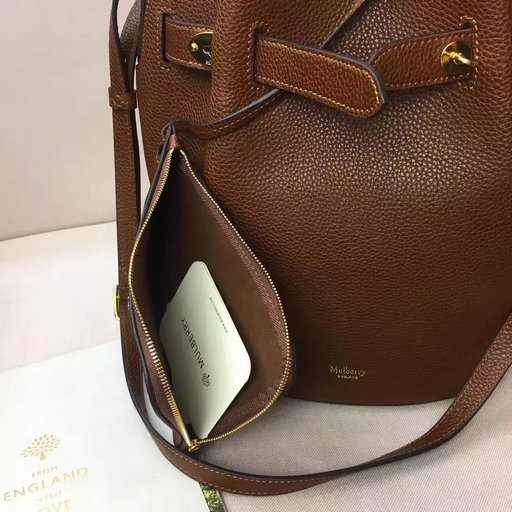 a09c59eb2c3a 2017 Spring Summer Mulberry Abbey Bucket Bag in Oak Grain Leather ...