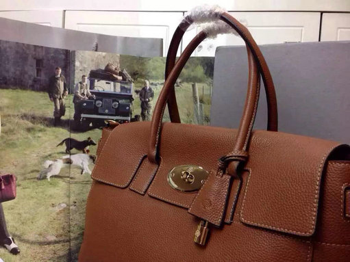 2015 A W Mulberry Bayswater Buckle Tote Bag in Oak Small Grain ... dc7189a7c5df6