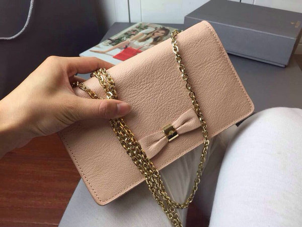 8392d4f49661 2015 Cheap Mulberry Bow Clutch Wallet Ballet Pink Goat Leather ...