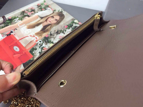 deb8458c138f 2015 Cheap Mulberry Bow Clutch Wallet Taupe Goat Leather  31229204 ...